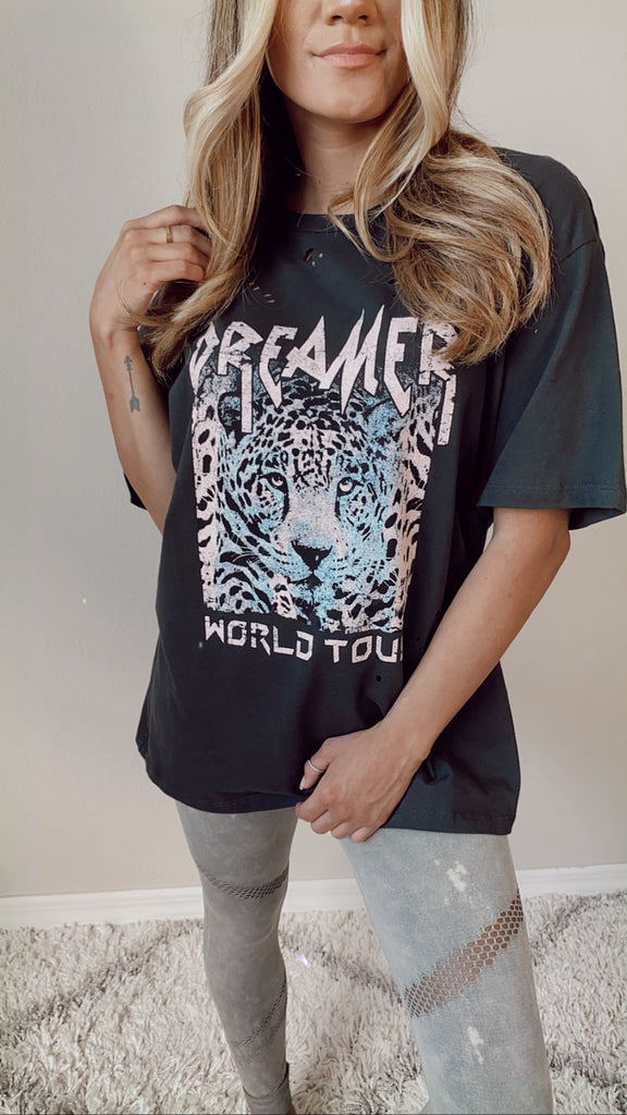 Dreamer World Tour Distressed Tee