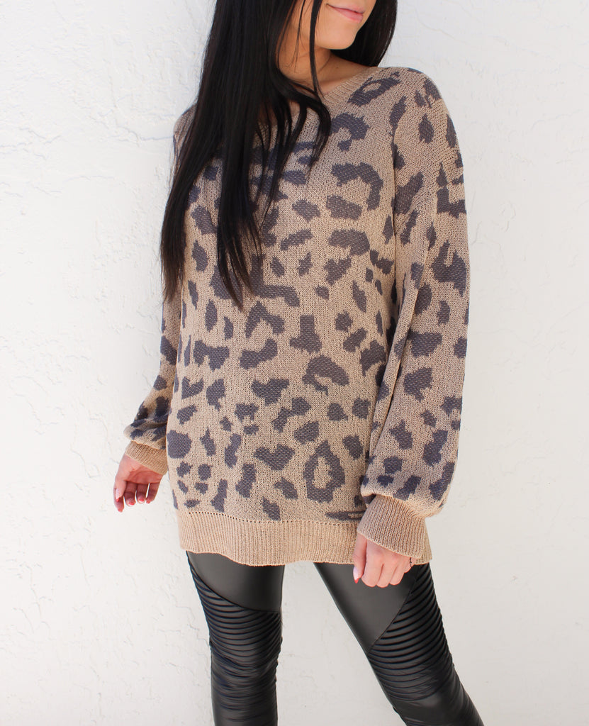Val Leopard Sweater