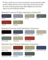 Midmark Ultra Upholstery Colors