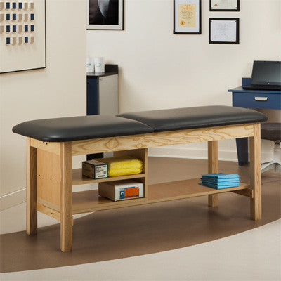 Clinton Classic Series Treatment Table with Shelving Unit