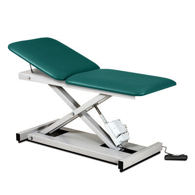 Clinton Open Base Power Exam Table with Adjustable Back
