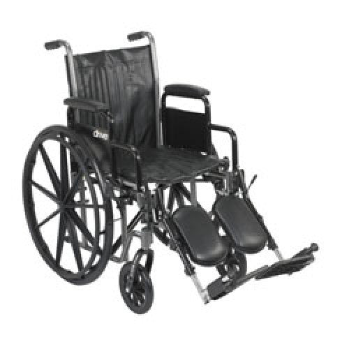 Drive Silver Sport 2 Wheelchair with Detachable Desk Arms and Elevating Leg Rest