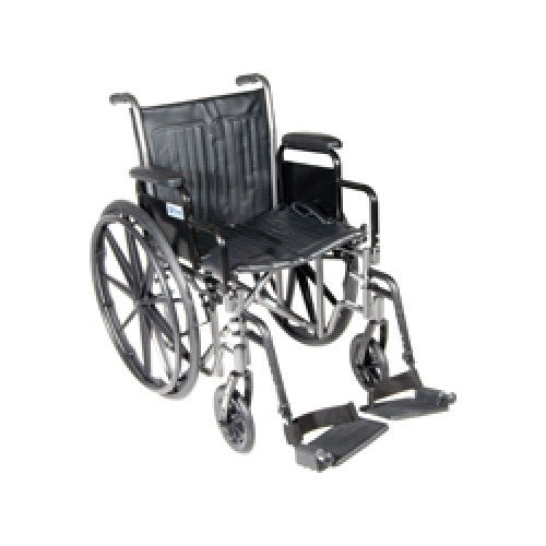 Drive Silver Sport 2 Wheelchair with Detachable Desk Arms and Swing Away Footrest