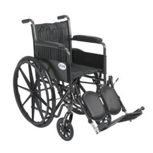 Drive Silver Sport 2 Wheelchair with Elevating Foot Rest