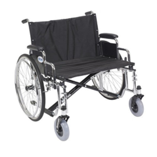 Drive Sentra EC Heavy Duty Extra Wide Wheelchair with Detachable Desk Arms
