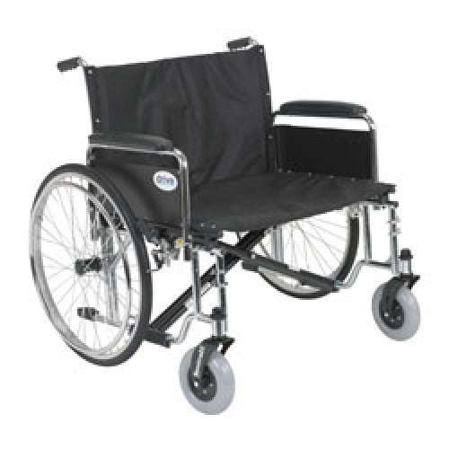 Drive Sentra EC Heavy Duty Extra Wide Wheelchair with Detachable Full Arms