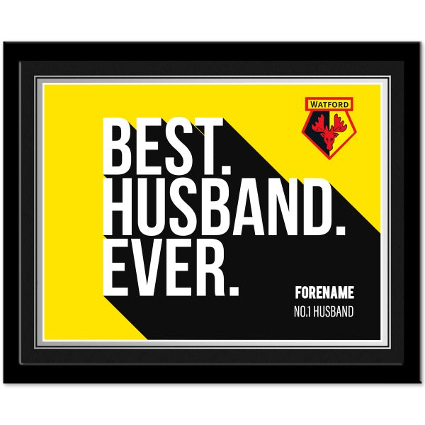Personalised Watford FC Bold Crest Mouse Mat
