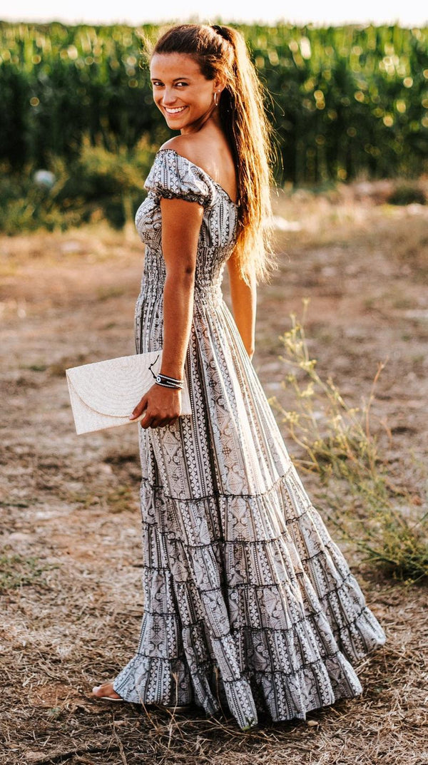 Tribal Thailand Dress -  Boho Maxi