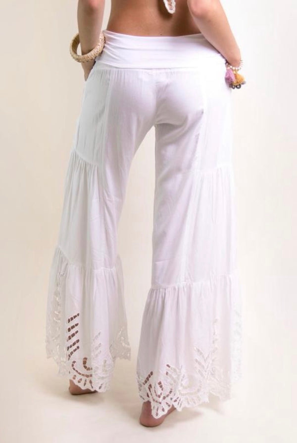 Gypsy Eyelet Bell Bottom