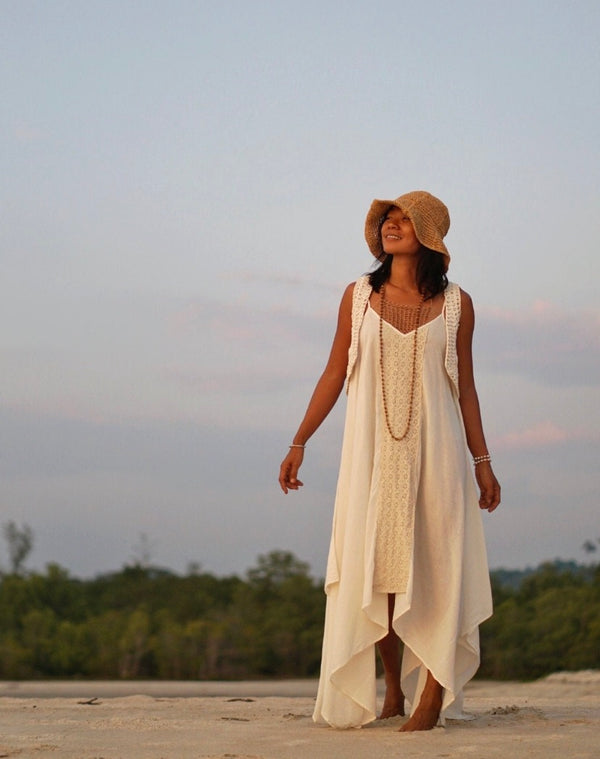 eco friendly boho fashion fair trade cotton dress ethical fashion slow fashion hand made cotton boho dress