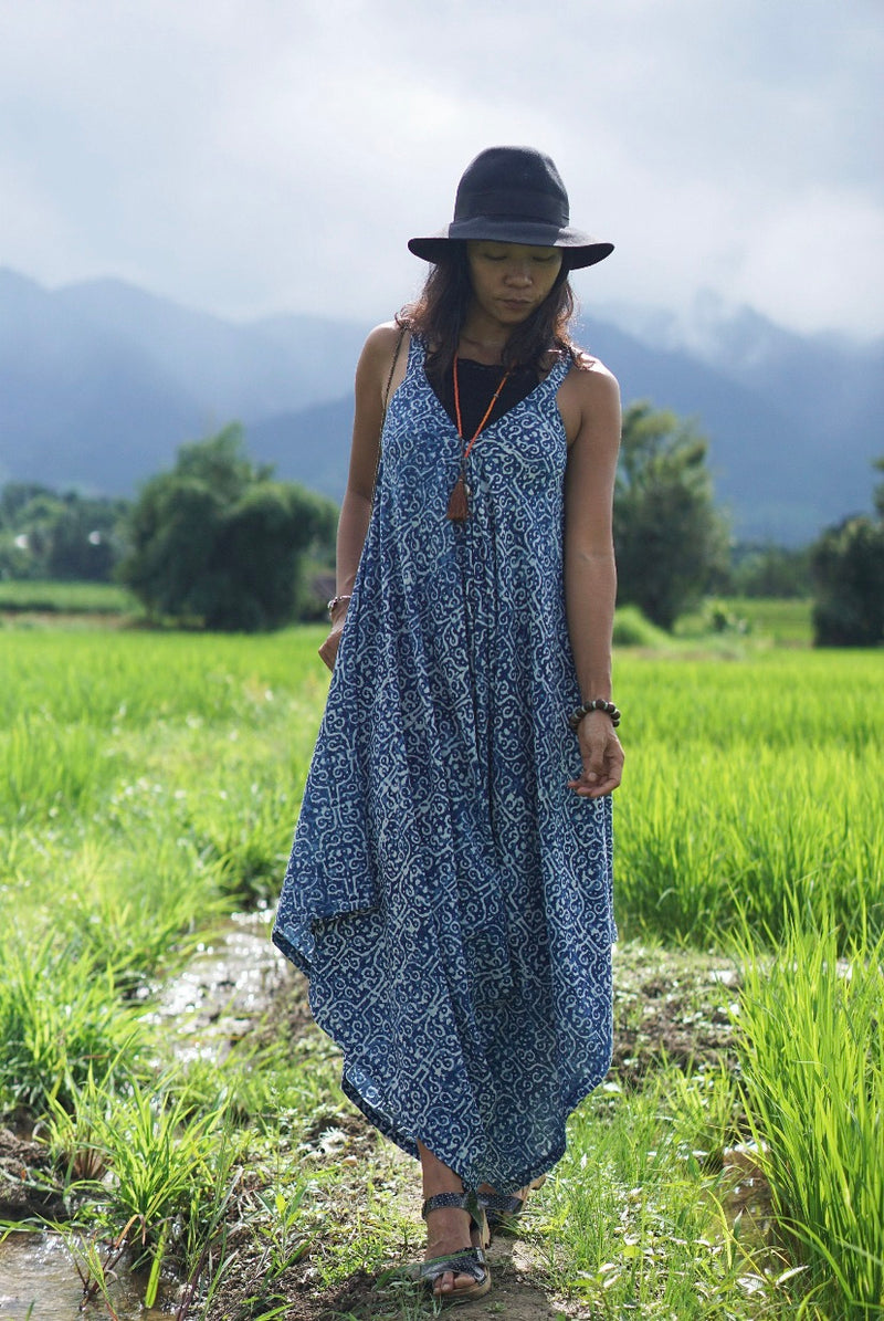 Indian Block Print Jumpsuit - Limited Edition - Eco-Friendly