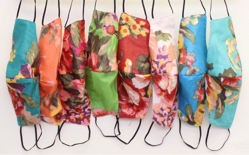 eco-friendly handmade floral print masks
