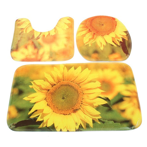 3pcs_Yellow_Sunflower_Bathroom_Set