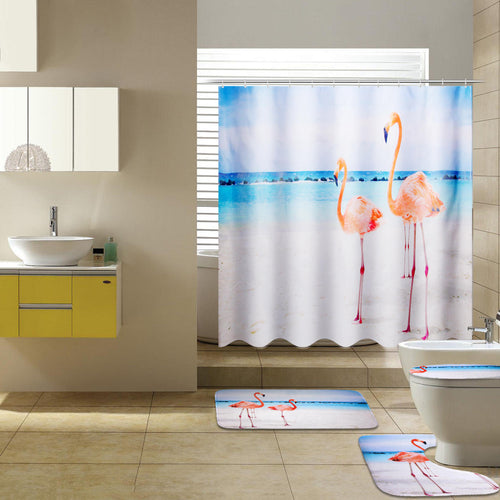 Flamingo 4-Piece Bathroom Set