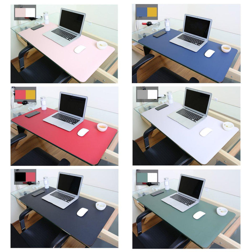 90x45cm Both Sides Two Colors PU leather Mouse Pad Mat Large Office Gaming Desk Mat