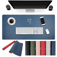 Dual-Sided Colored PU Leather Desk Mat & Mouse Pad