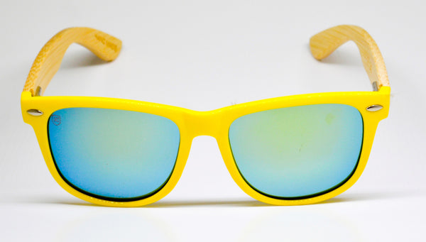 Little 5's - Yellow Frames with Bamboo Temples - Indie Carry  - 1