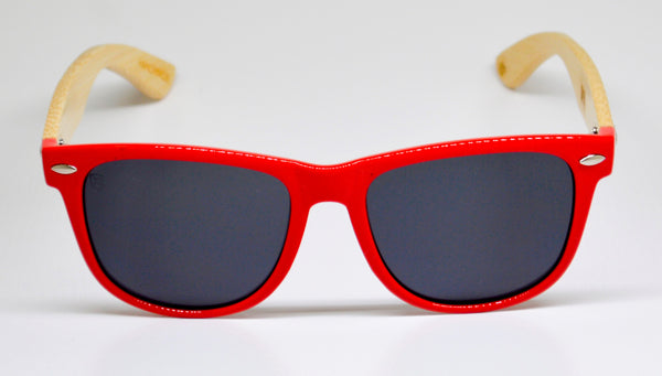 Little 5's - Red Frames with Bamboo Temples - Indie Carry  - 2