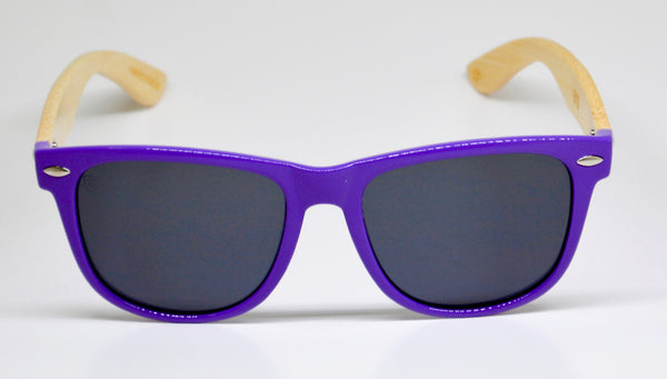Little 5's - Purple Frames with Bamboo Temples - Indie Carry  - 1
