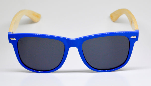 Little 5's - Blue Frames with Bamboo Temples - Indie Carry  - 2