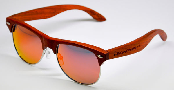 HollywoodEAST Premiums - Red Rose Wood with Polarized Lenses - Indie Carry