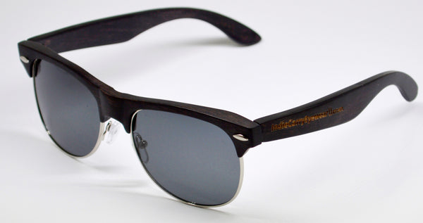 HollywoodEAST Premiums - Black Duwood with Polarized Lenses - Indie Carry
