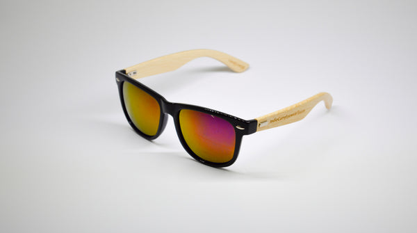 Little 5's - Black Frames with Bamboo Temples - Indie Carry  - 5