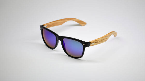 Little 5's - Black Frames with Bamboo Temples - Indie Carry  - 4
