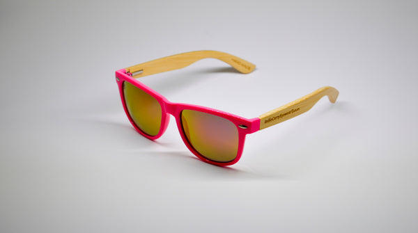Little 5's - Pink Frames with Bamboo Temples - Indie Carry  - 1