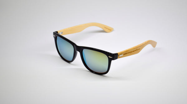 Little 5's - Black Frames with Bamboo Temples - Indie Carry  - 9