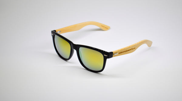 Little 5's - Black Frames with Bamboo Temples - Indie Carry  - 8