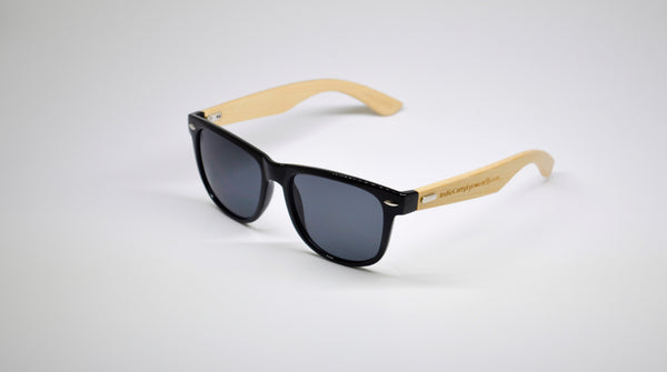 Little 5's - Black Frames with Bamboo Temples - Indie Carry  - 2