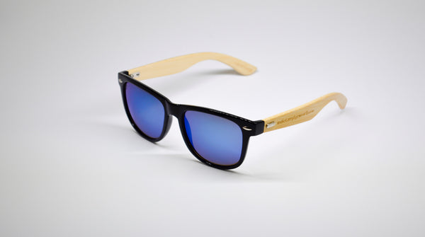 Little 5's - Black Frames with Bamboo Temples - Indie Carry  - 7