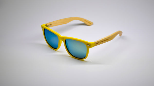 Little 5's - Yellow Frames with Bamboo Temples - Indie Carry  - 2