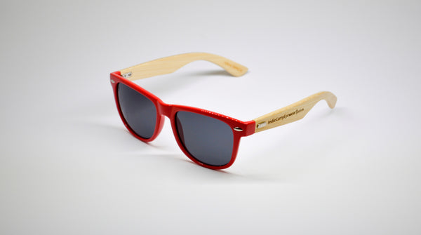 Little 5's - Red Frames with Bamboo Temples - Indie Carry  - 1
