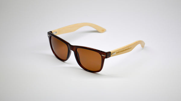 Little 5's - Brown Frames with Bamboo Temples - Indie Carry  - 1