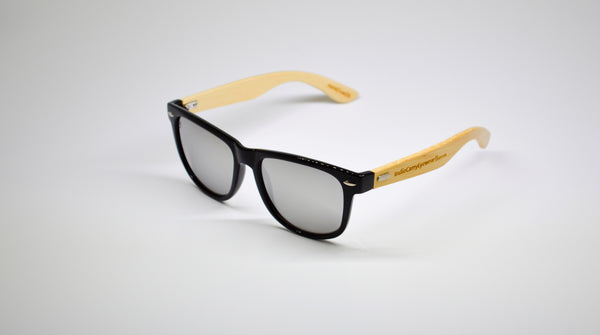 Little 5's - Black Frames with Bamboo Temples - Indie Carry  - 1
