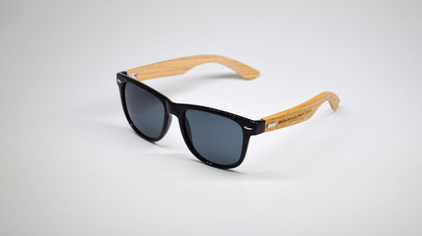 Little 5's - Black Frames with Bamboo Temples - Indie Carry  - 6