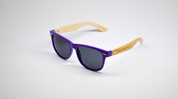 Little 5's - Purple Frames with Bamboo Temples - Indie Carry  - 2
