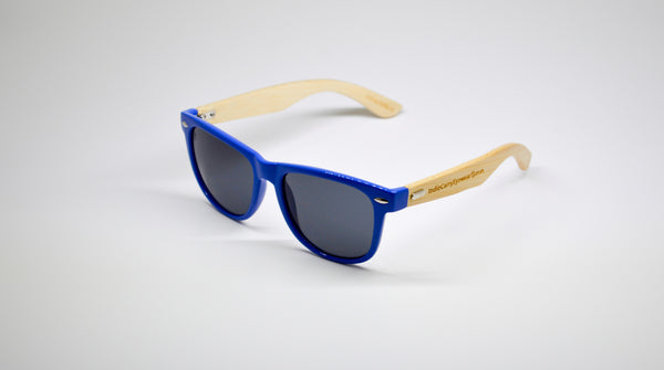 Little 5's - Blue Frames with Bamboo Temples - Indie Carry  - 1