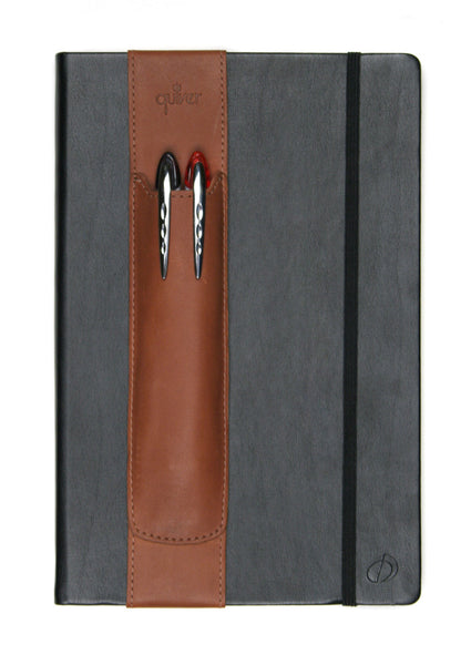 Double Pen/Stylus Quiver for Tablet and Extra-Large Notebooks - Indie Carry  - 17