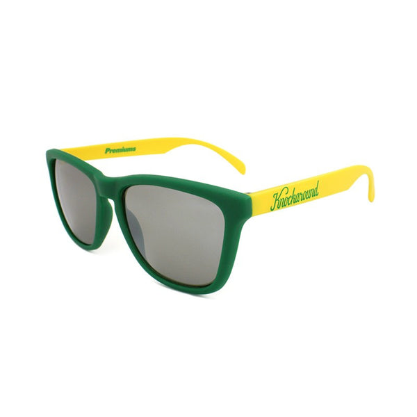 Knockaround Collegiate - Green and Yellow / Smoke - Indie Carry  - 1