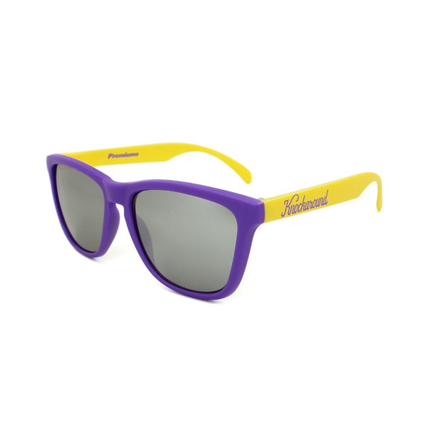 Knockaround Collegiate - Purple and Yellow/Smoke - Indie Carry  - 1