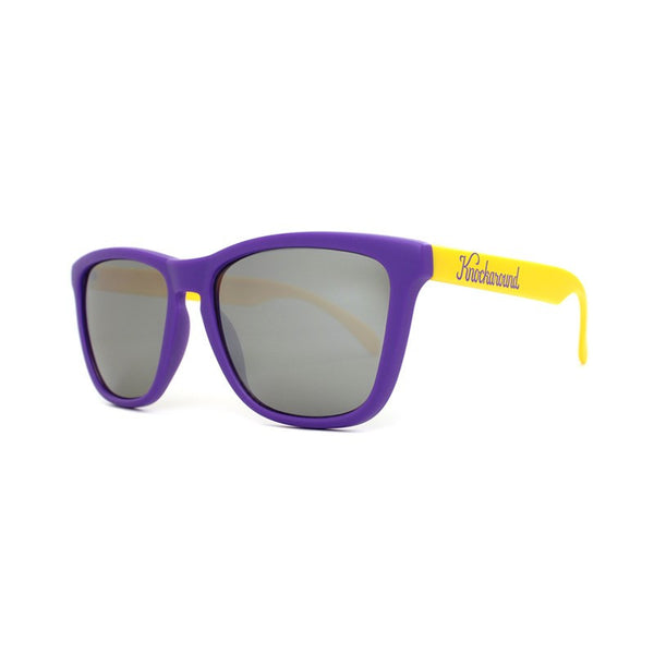 Knockaround Collegiate - Purple and Yellow/Smoke - Indie Carry  - 2