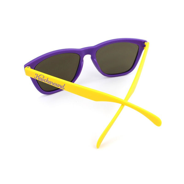 Knockaround Collegiate - Purple and Yellow/Smoke - Indie Carry  - 3
