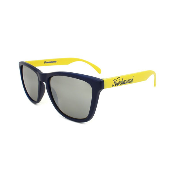 Knockaround Collegiate - Navy Blue and Yellow / Smoke - Indie Carry  - 1