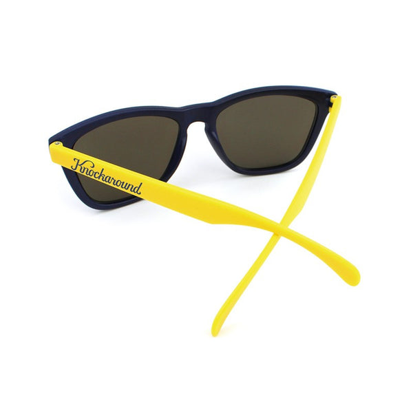 Knockaround Collegiate - Navy Blue and Yellow / Smoke - Indie Carry  - 3