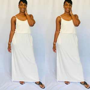 Wildegal Maxi Dress- Cream