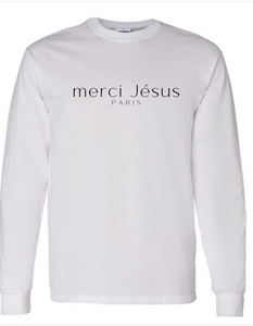 Merci Jésus Long Sleeve Tee