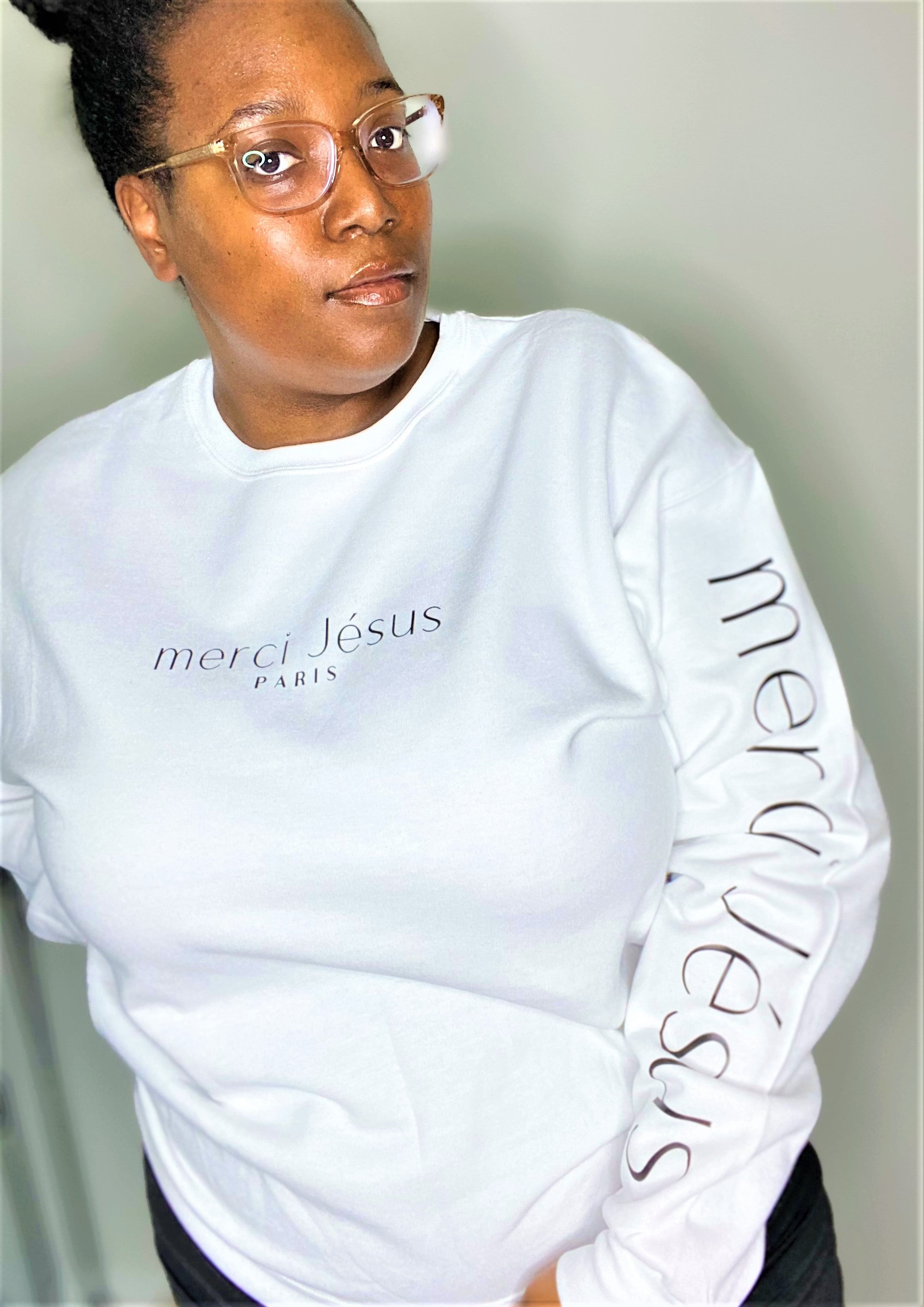 Merci Jésus Crew Neck